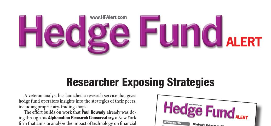 Alphacution News: Hedge Fund Alert Showcases Alphacution